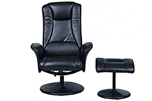 Naples Memory Foam Swivel Recliner Chair With Footstool