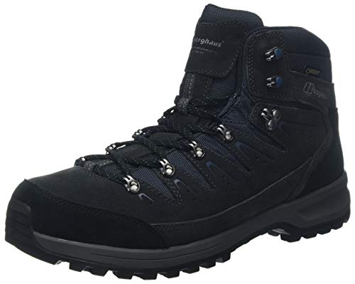 Explorer Gtx Boot (Berghaus UK Herren Explorer Trek Gore-Tex Tech Trekking- & Wanderstiefel, Grau (Carbon/Blue Cs8), 44.5 EU)