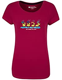 Mountain Warehouse T-shirt Femme Manches Courtes Imprimé Nice Weather For Ducks