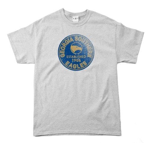 NCAA Georgia Southern Eagles 100Prozent, Vintage Circle Short Sleeve Tee, Herren, Grau - Sport Grey -