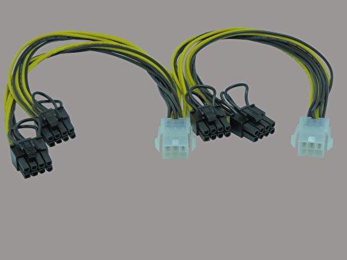 (2er-Pack) Stromkabel Delock 6Pin PCIe -> 8Pin PCIe Bu/St 0.30m (Amd-grafikkarte R9 270)
