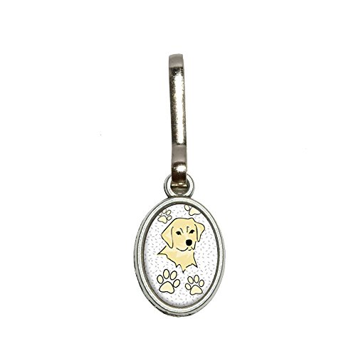Labrador Retriever of Radiance Antik Oval Charm Kleidung Geldbörse Gepäck Rucksack Zipper Pull (Labrador-geldbörse)