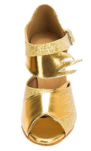 TDA , Peep-Toe femme 8.5cm Heel Gold