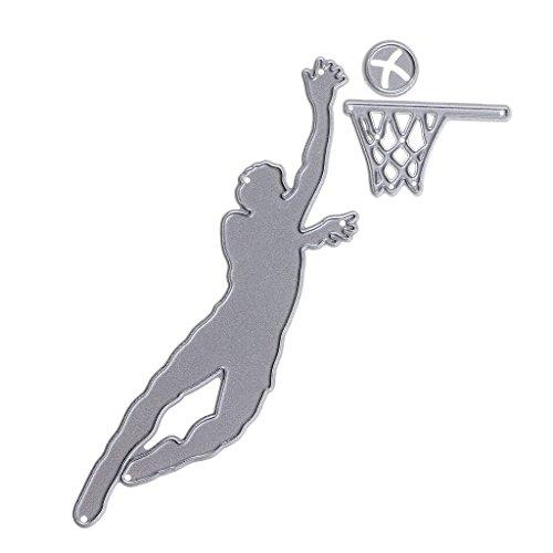 B Baosity Rahmen Form Stanzschablonen Metall Schneiden Schablonen DIY Prägeschablonen für DIY Scrapbooking Album Papier Karten Sammelalbum Deko - Basketball -