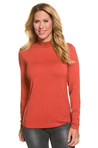 GINA_LAURA Damen | Langarmshirt mit Rollkragen | Rolli Shirt mit Turtleneck | Langarm | weicher Soft-Jersey Super-Stretch | einfarbig | bis Größe XXXL 708308 Kürbis