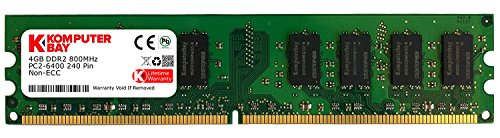 Komputerbay J22 4GB DDR2 DIMM (240 PIN) 800Mhz PC2 6400 PC2 6300 4 GB - CL 5 -