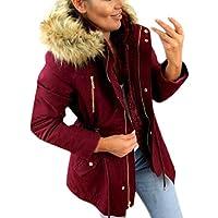 Abrigos Mujer Acolchados Parka Mujer Capucha Pelo Deportiva Abrigos De Invierno Chaqueta Sudadera Grueso