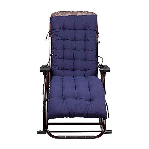 Sedia sdraio da giardino sdraio cuscini imbottiti patio reclinabili lounge cuscino del sedile 155 x 48 x 8 navy