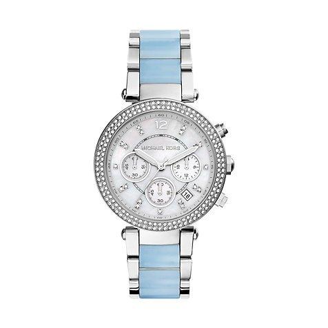 Michael Kors Damen Chronograph Quarz Uhr mit Edelstahl Armband MK6138