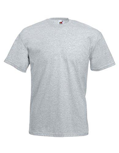 10er Pack Valueweight Fruit of the Loom T-Shirt Größe S - 5XL T-Shirts in vielen Farben XXXXXL / 5XL,graumeliert