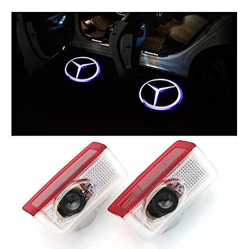 �r Logo Ghost Shadow Projektor Laser Willkommen Lichter für Mercedes-Benz Serie Symbol Emblem Höflichkeit Schritt Lichter Bodenlampe Kit (2 Pack) ()