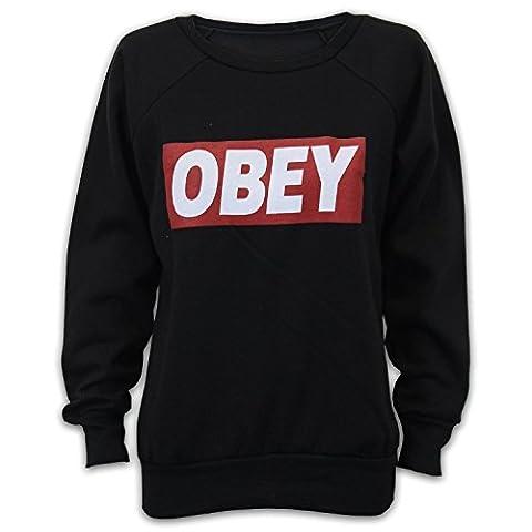 Obey sweatshirts pour femme outlet (M/L 40-42, Noir)