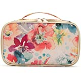 HOYOFO Portable Cosmetic Bags Traveling Makeup And Toiletry Organizer Box With Brush Holders