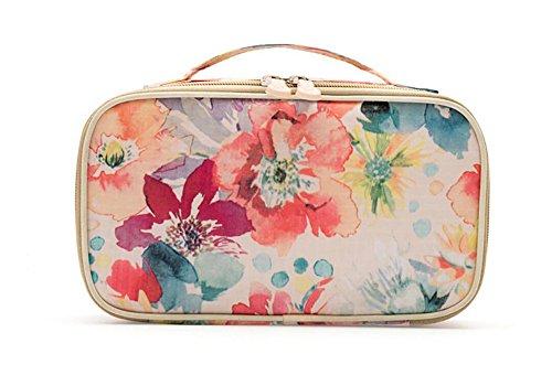 hoyofo tragbar Travel Kit wasserdicht Polyester Kulturtaschen Frauen Kosmetiktasche klein Make-up Verpackung Organisation Auarelle (Entlang Gepäck)