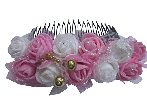 unique indian craft Hair Combpin/Multicolor foam sheet Hairpin comb /Girls Hair Accessories...
