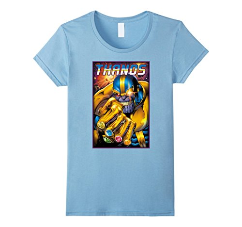 Women's Marvel Thanos Infinity Gems Graphic T-Shirt XL Baby Blue (Baby Womens T-shirt Blue)