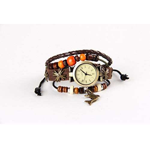 MHOOOA Armband Armreif Watch Dolphin Watch Fashion Damenuhr Langarmband -