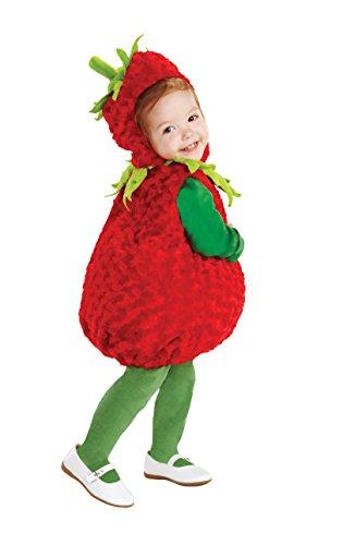 Kleine Rote Erdbeere Kinderkostüm - Gr. 92-104