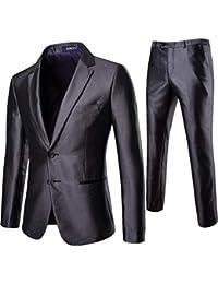 Homebaby 2pcs Uomo Blazer Basic in Maglia + Pantaloni Elegante Classic  Festa Smoking Cardigan Giacca da Abito Fiesta Maniche Lunghe… d5d3b338f53
