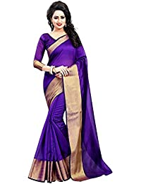 Rajeshwar Fashion Women's Cotton Silk Saree With Unstitched Blouse Piece