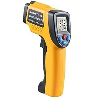 Autool IT100Infrarot-Thermometer Berührungslose Laser-LCD Display IR Infrarot Digital C/F-Auswahl Temperatur Gun –-50~ 380℃ (-58~ 716℉)