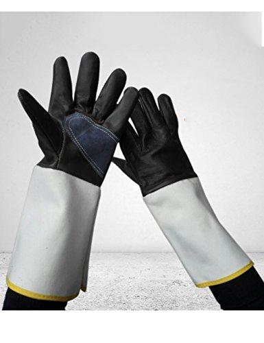 Preisvergleich Produktbild Canvas Handschuhe Schweißhandschuhe Welding Wear Handschuhe Labor Versicherung Handschuhe Anti - Rutsch Verdickung Handschuhe