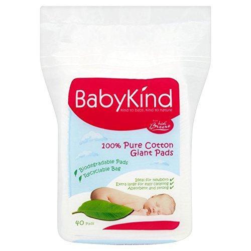 Babykind géants coton Pads 40 par paquet
