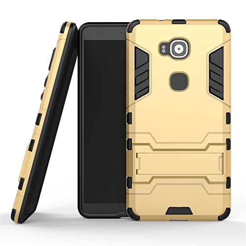 AyiHuan Huawei G8 Hülle,Huawei GX8 Hülle,Huawei G7 Plus Hülle,[Outdoor] [Fallschutz] [Dual Layer] Ultra-dünne Bumper und Stoßfest Schutzhülle Case Cover mit Ständer für Huawei G7 Plus / G8 / GX8 (5.5