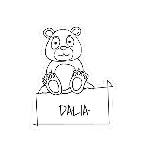 JOllipets Baby Kinder Aufkleber - Dalia - Variante: Tiere Zoo - Farbe: Design: Bär Dalia Bar