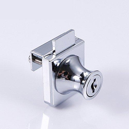 41BGNRdG8lL - Acutty aleación de Zinc Cerradura Cristal Vitrina Ventana de candados para 5-8mm Puerta de Cristal sin Broca con 2Llaves