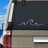 YSHUO Wall Sticker Wave Car Decal Ourdoor Vinyl Art Decor Beach Ocean Mural Art Decals For Car Window Laptop Decoration