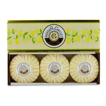 Roger & Gallet Cedrat (Citron) Perfumed Soap Coffret - 3x100g/3.5oz - Gallet Perfumed Soap