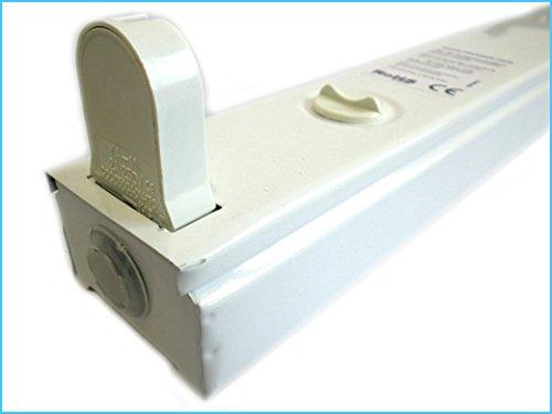 Plafoniere Per Tubi Neon : Porta lampada plafoniera per tubo neon t8 a led 120cm singolo