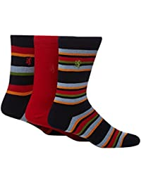 Pringle Men Pack Of Three Red Striped Socks From Debenhams Size