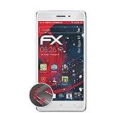 atFolix Schutzfolie passend für Oppo R7 Folie, entspiegelnde & Flexible FX Bildschirmschutzfolie (3X)