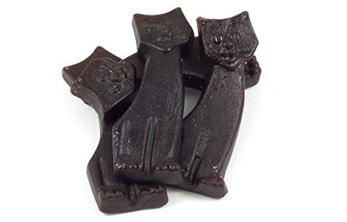 Preisvergleich Produktbild Starke Lakritz Katzen ohne Zucker - in einer praktischen AromaFrischeNaschbox 1kg - Deine Naschbox.