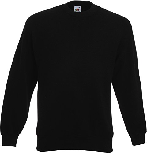 Gewicht Sport Garn (Fruit of the Loom Herren 62-202-0 Sweatshirt, Schwarz, xl)