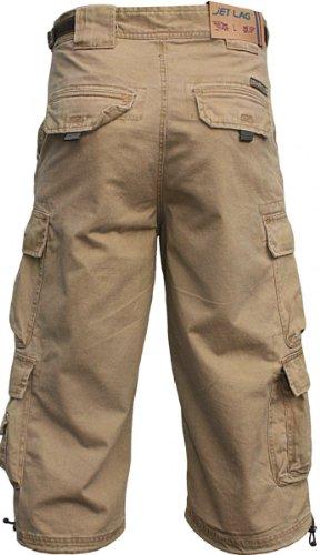 JET LAG Cargo Shorts 3/4 Hose Modell 007 S Beige