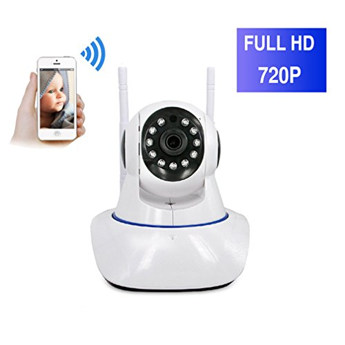 ShengyaoHul Vidéo D'Alarme Caméra De Surveillance, 720P HD Indoor Système De Sécurité Ip Home Camera, Moniteur Vidéo Pour Bébé Livré Avec Pan / Tilt / Capture D'Image