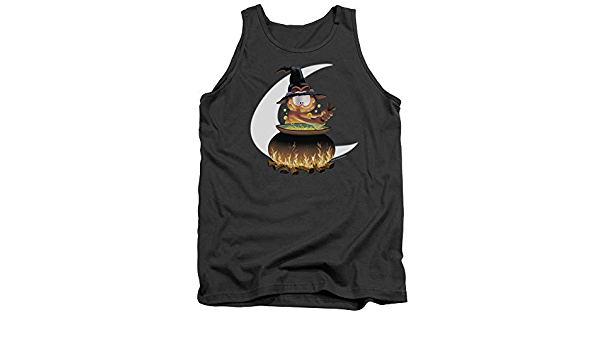 Small Trevco Garfield-Stir The Pot Adult Tank Top44; Charcoal