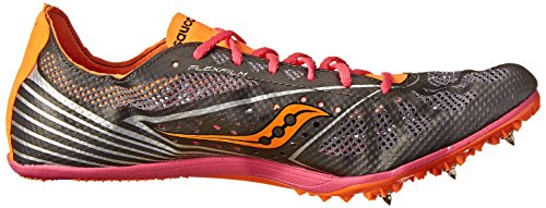 Saucony Women's Endorphin MD4 Track Spike Racing Shoe,Silver/Orange/Pink,10 M US Silver/Orange/Pink
