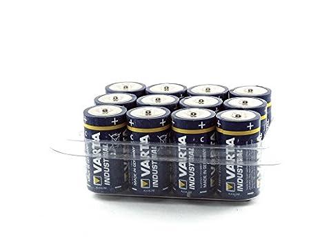 Varta 4014 Baby/C/LR14/MN1400 Industrial Wiederverschließbarer Alkaline Batterie mit Box (12-er Pack)