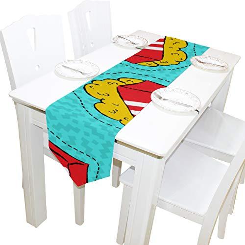 ommode Schal Tuch Abdeckung Tischläufer Tischdecke Tischset Küche Esszimmer Wohnzimmer Hause Hochzeitsbankett Decor Indoor 13x90 Zoll ()