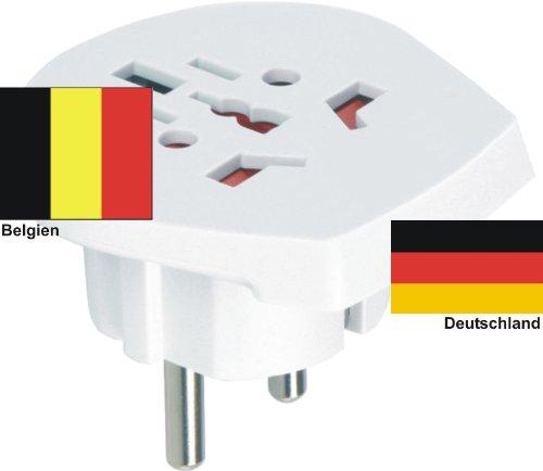 Design Reiseadapter Deutschland auf Belgien für div. ausländische Gerätestecker in D/EU nutzen