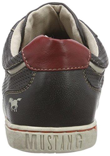 Mustang Mustang Herren Schnürer - Sneaker, , taglia Nero (Schwarz (95 schwarz / rot))