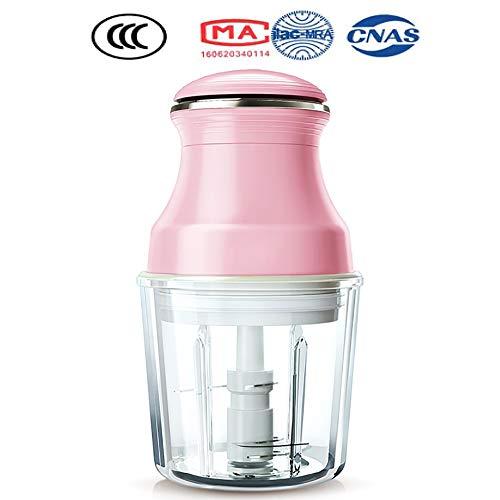Cpippo 4-in-1-Babynahrungszubereiter, Dampfgaren und Mixen, 4 Mahlzeiten, 200W 600ml Küchenmaschine Multifunktional mit 420 Edelstahl Material, 3-Lagiger Stereo-Schneidkopf Pink