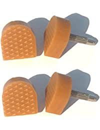 """2 Paires BEIGE Nude en forme de chaussure à talon embouts 13 mm x 14 mm - 1/2 """")"""