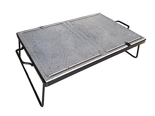 Piastra pietra ollare lavica doppia cottura separata dietetica 60x40 cm