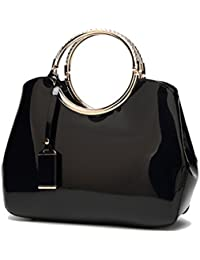 Amazon.it  Borsa in vernice - 708516031   Borse a mano   Donna ... 2cb60176da5