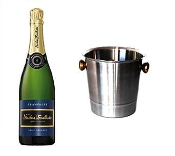 Nicolas Feuillatte Champagner Brut im Champagner Kühler 12% 0,75l Fl.